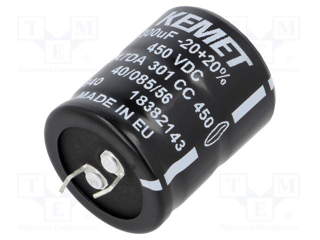 KEMET ALA7DA301CC450 - Kondenzátor: elektrolytický
