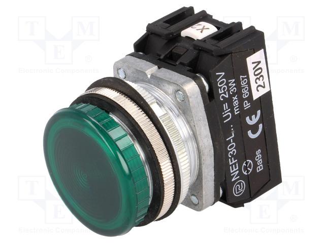 PROMET NEF30-LPZ-230VAC - Kontrolka
