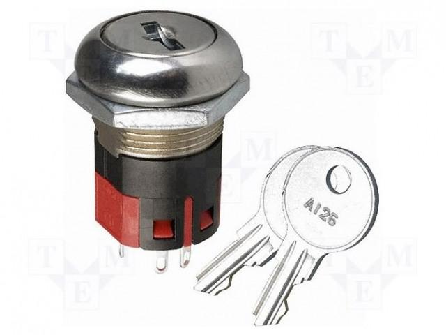 C&K Y100AA-2-C-2-03-N-Q - Comutator: întrerupător cu cheie