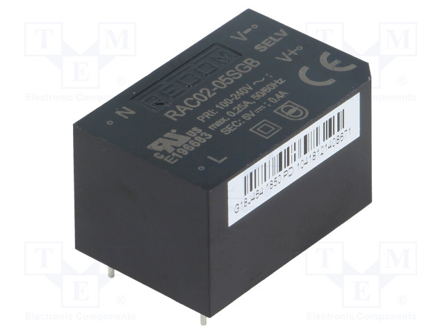 RECOM RAC02-05SGB - Converter: AC/DC