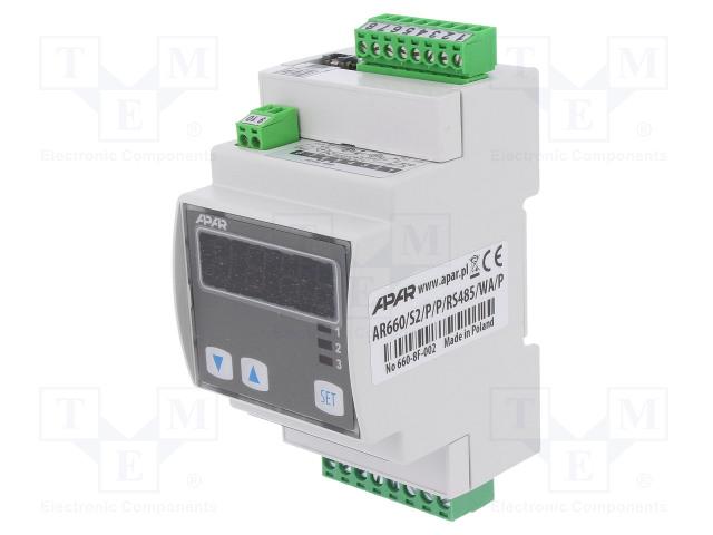 APAR AR660/S2/P/P/RS485/WA/P - Modul: regulátor