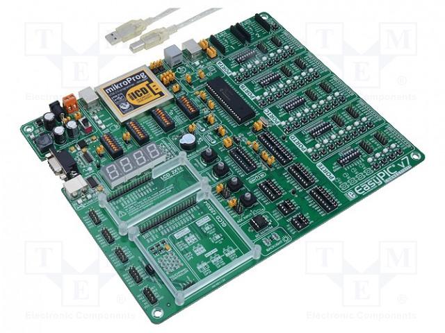 EASYPIC V7 MIKROELEKTRONIKA - Dev kit: Microchip PIC MIKROE