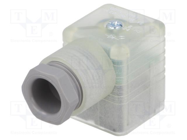 HIRSCHMANN 933737712 GDML 2011 LED 24 VR YE GRAU - Konektor: pro ventily