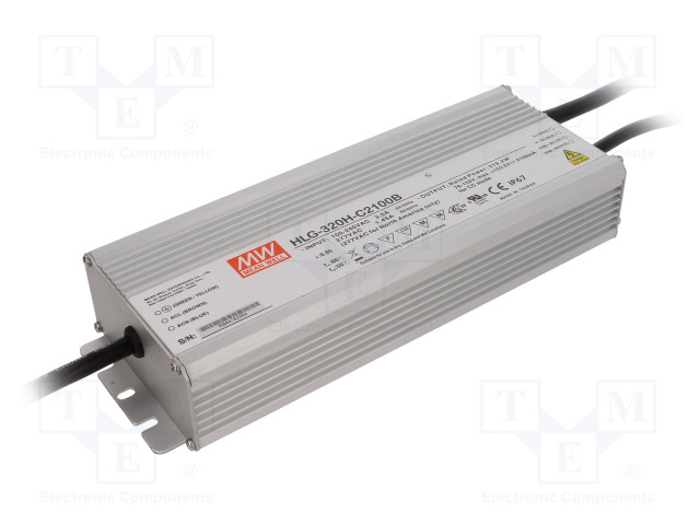 MEAN WELL HLG-320H-C2100B - Power supply: switched-mode