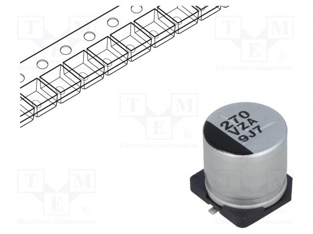 PANASONIC EEHZA1V271P - Kondenzátor: hibrid