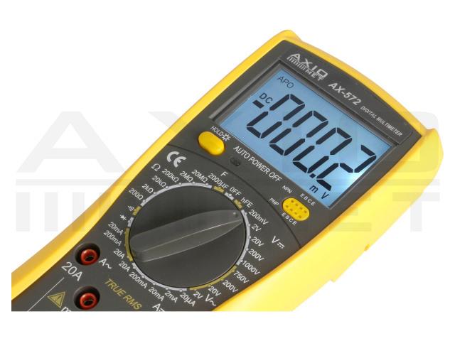 AX-572 AXIOMET, Multimetro digitale