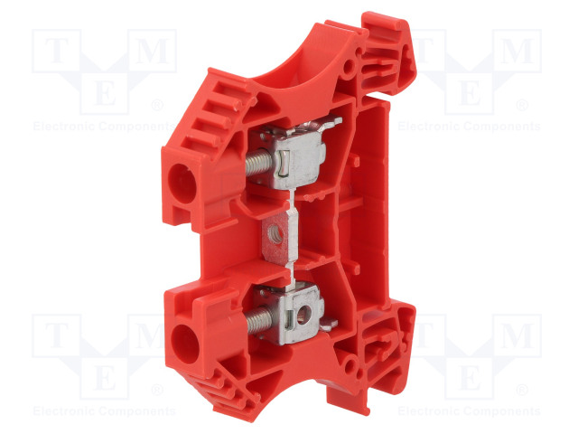 1020240000 WDU 6 RT WEIDMÜLLER - Splice terminal: rail | 6mm2; ways: 1;  terminals: 2; red; wemid; TS35; WDU6RT | TME - Electronic components