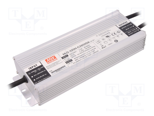 MEAN WELL HLG-320H-C2800DA - Power supply: switched-mode