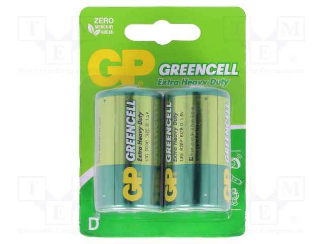 GP 13G U2 - Battery: zinc-chloride