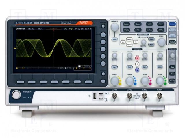 GW INSTEK GDS-2204E - Osciloscopio: digital
