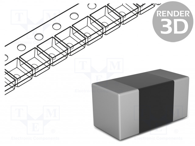 ROYAL OHM CQ03SAF1652T5E - Resistor: thick film