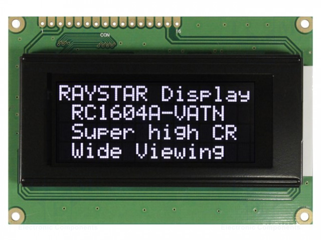 RAYSTAR OPTRONICS RC1604A-LLH-JWV - Display: LCD