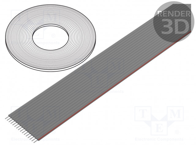 CONNFLY DS1057-16A282R-30.5 - Wire: ribbon