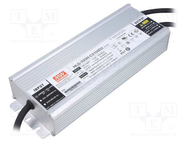 MEAN WELL HLG-320H-C2100D2 - Power supply: switched-mode