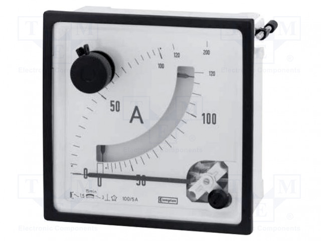 CROMPTON - TE CONNECTIVITY 039-92452-0001-5/6/10A-0-60/72/120A - Amperometer
