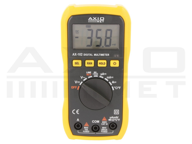 AX-102 AXIOMET, Digitalmultimeter