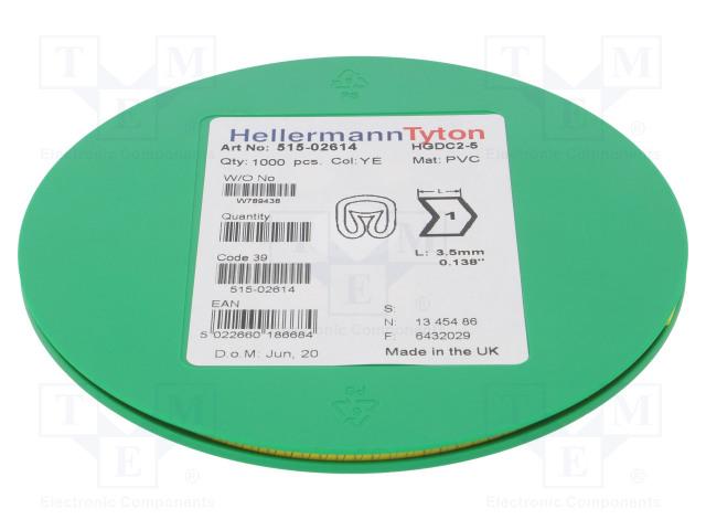 HELLERMANNTYTON 515-02614 - Kabelové značky pro kabely a vodiče