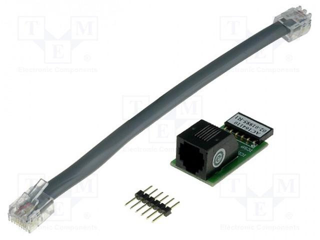 MICROCHIP TECHNOLOGY AC164110 - Adaptér: redukce RJ11 ICSP
