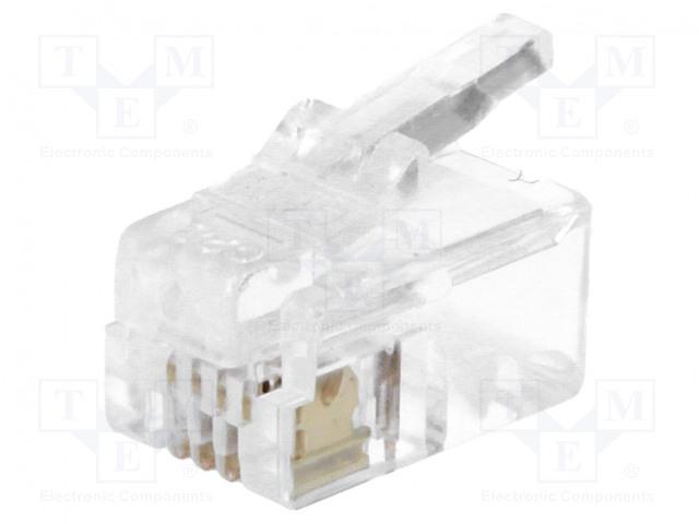 MH CONNECTORS MHRJ114P4CR - Zástrčka
