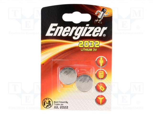 ENERGIZER CR2032 B2 - Battery: lithium