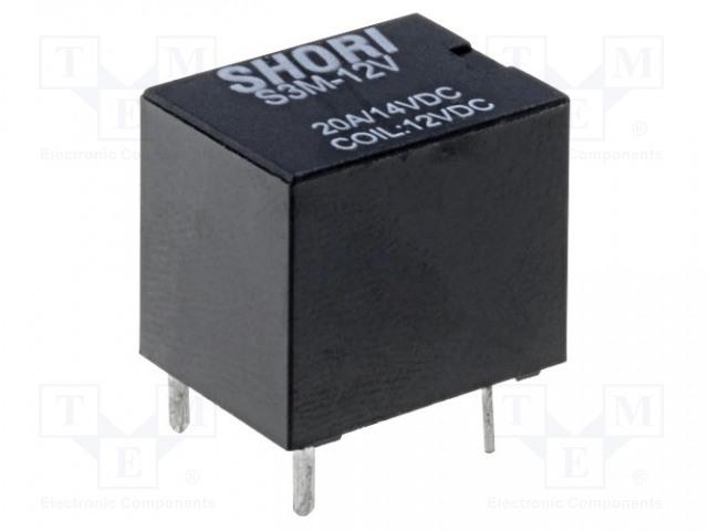 SHORI ELECTRIC S3M-12-1C - Relé: elektromagnetické