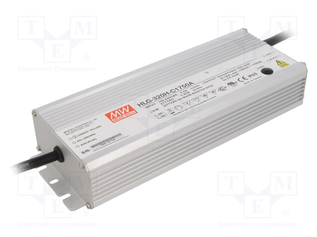 MEAN WELL HLG-320H-C1750A - Power supply: switched-mode
