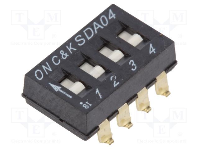 C&K SDA04H0SB - Schalter: DIP-SWITCH