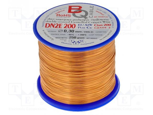 BQ CABLE DN2E0.30/0.25 - Drut nawojowy