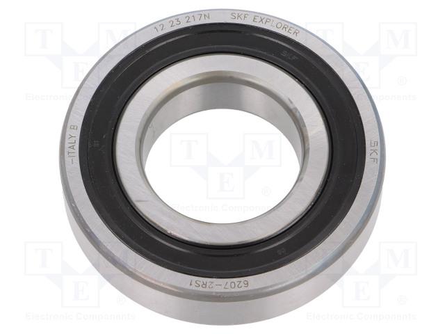 SKF 6207-2RS1 SKF - Bearing: single row deep groove ball