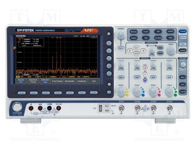 GW INSTEK MDO-2204EX - Osciloskop: číslicový