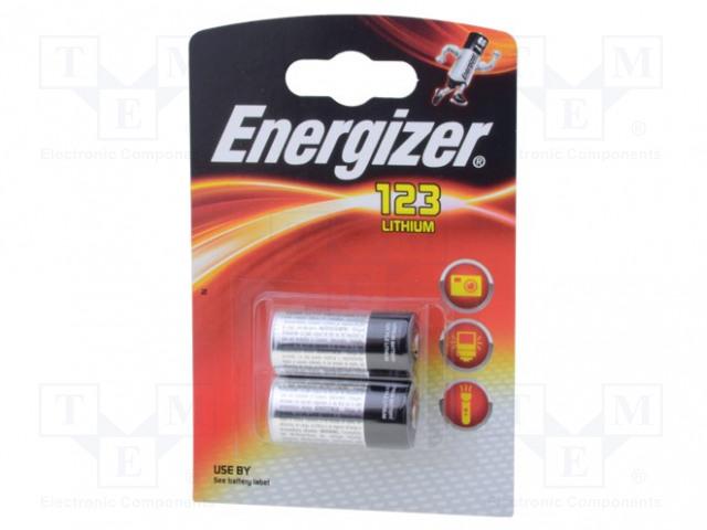 ENERGIZER 123 - Battery: lithium