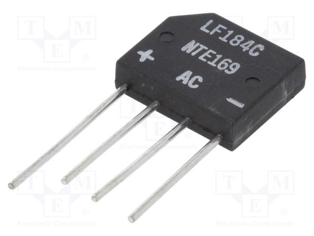 NTE Electronics NTE169 - Jednofázový usměrňovací můstek