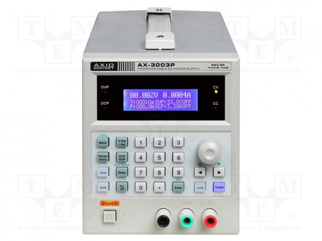 AXIOMET AX-3003P - Alimentator: de laborator programabil
