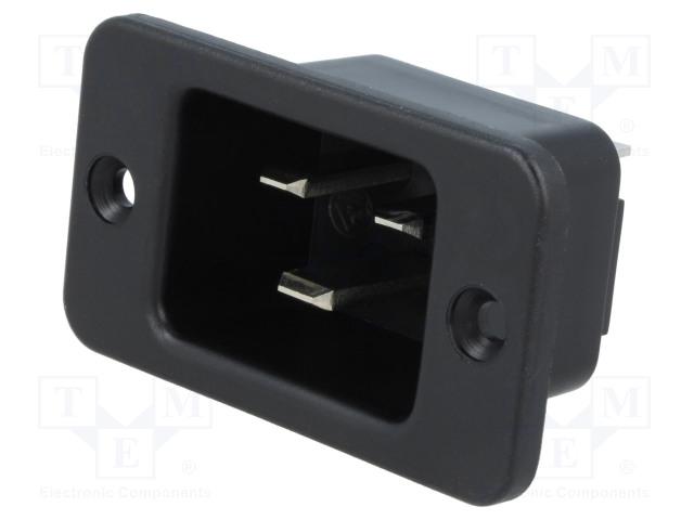 SCHURTER 6163.0004 - Konektor: napájecí AC