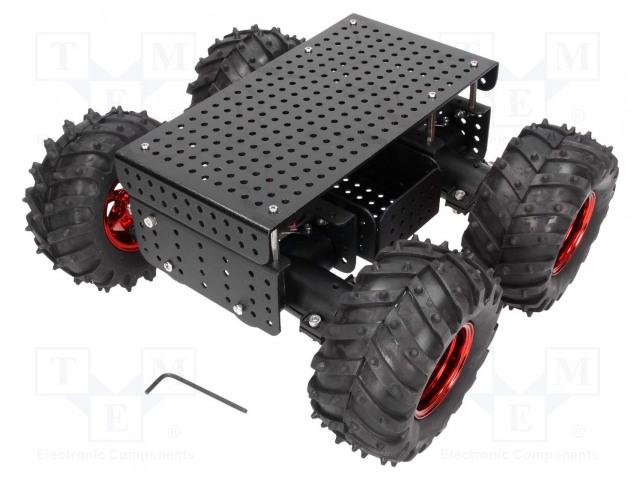 POLOLU DAGU WILD THUMPER 4WD BLACK 34:1 - Kolový podvozek