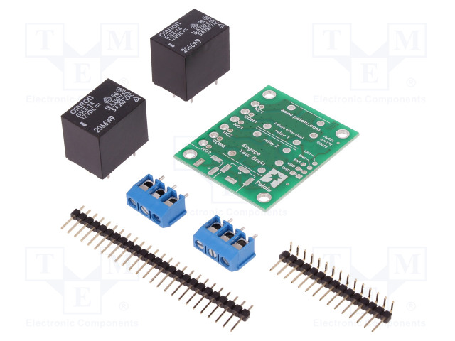 POLOLU 2-CH SPDT RELAY CARRIER WITH 12VDC RELAY - Modul: relé