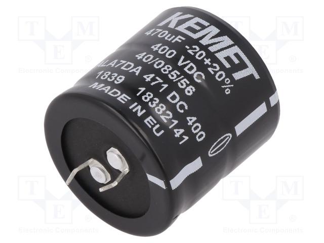 KEMET ALA7DA471DC400 - 电容器: 电解