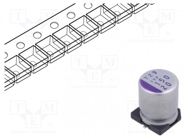 PANASONIC 20SVP150M - Kondensator: Polymer