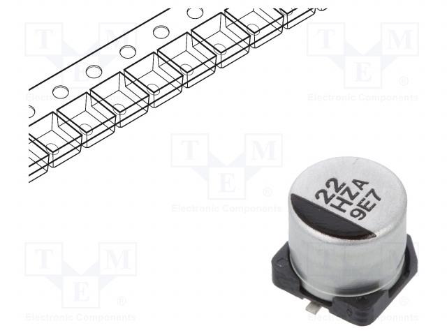 PANASONIC EEHZA1H220P - Kondensaattori: hybridi-