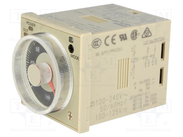 OMRON H3CR-A8-301 100-240AC/100-125DC - Časové relé