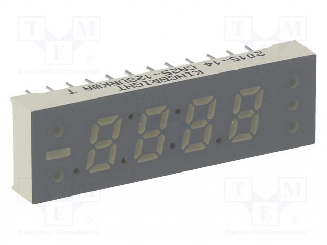 KINGBRIGHT ELECTRONIC CA25-12SURKWA - Displej: LED