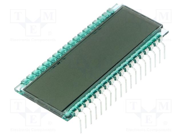 DISPLAY ELEKTRONIK DE 301-TU-30/6,35 (5 VOLT) - Zobrazovač: LCD