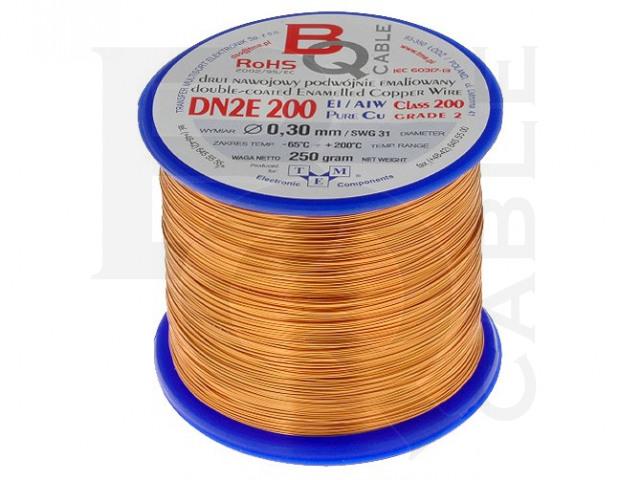 DN2E0.30/0.25 BQ CABLE, Filo per avvolgimenti
