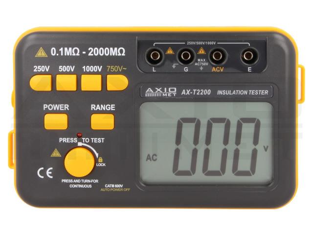 AX-T2200 AXIOMET, Medidor