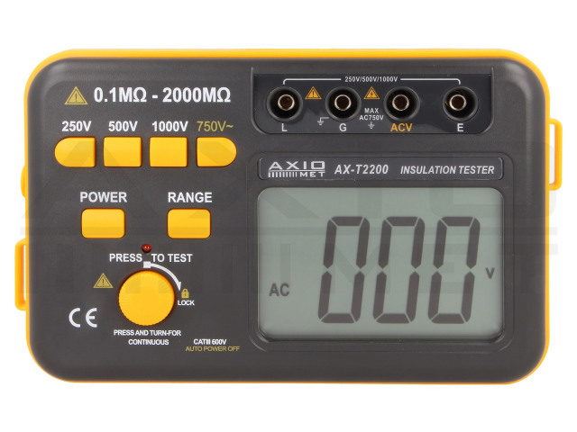 AX-T2200 AXIOMET, Isolationswiderstandsmessgerät