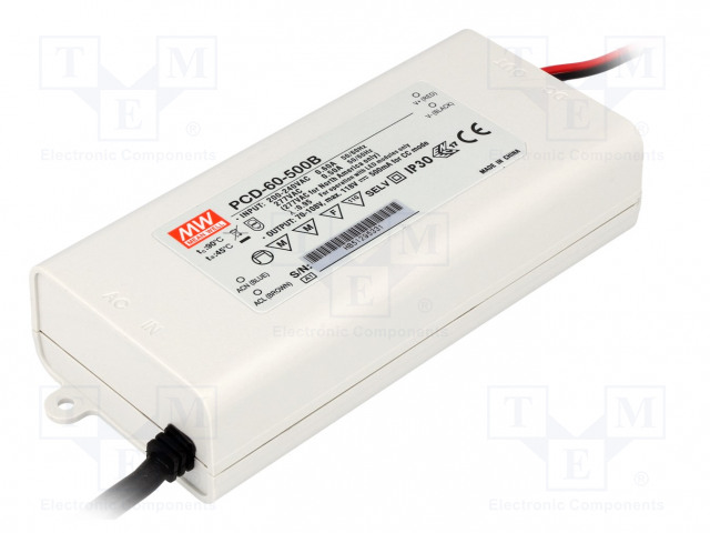 MEAN WELL PCD-60-500B - Power supply: switched-mode