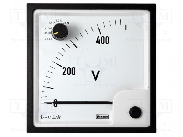 CROMPTON - TE CONNECTIVITY 039-90717-0500-500V - Voltmeter