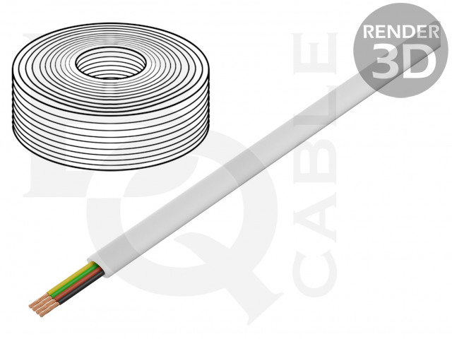 TEL-0032-100/WH BQ CABLE, Leiding