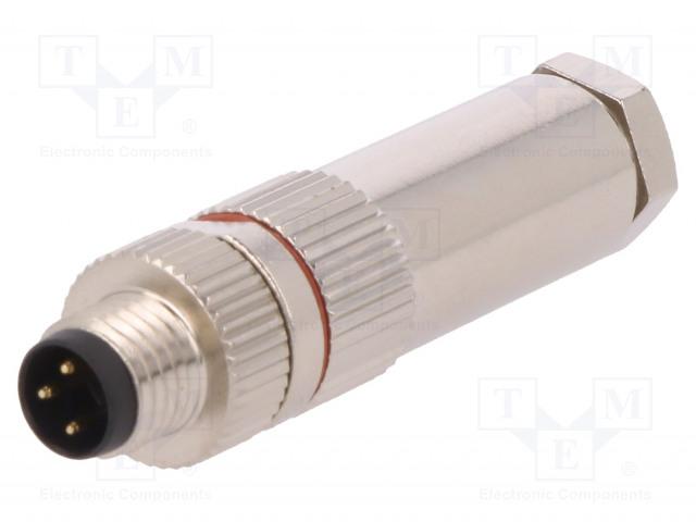 BULGIN PXMBNI08FIM03ASC - Connector: M8