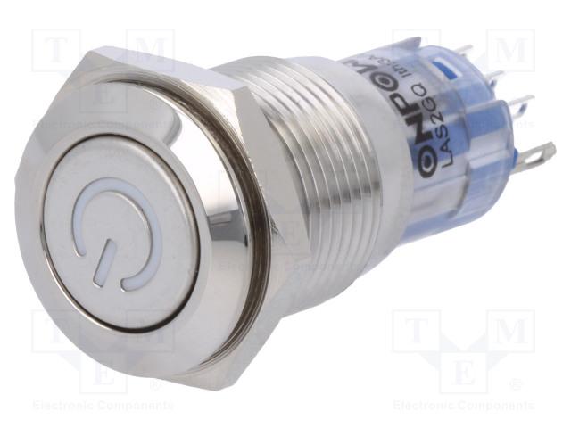 ONPOW V16-11DT-12Y-S - Switch: vandal resistant